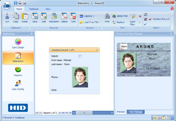 Id photography software applications for Asure id templates