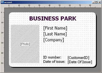 work id card template