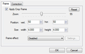 ID photo auto-cropping options