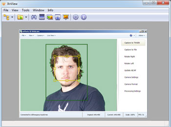 inPhoto ID Webcam with XnView software